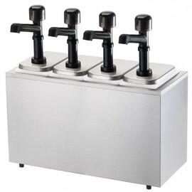 Pumpspender Soßenspender 2,5L Ketchupspender Sahnespender Senfspender Edelstahl