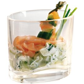 Amuse Gueule Glas EAT Ellipse XL 20 cl Glas mit Relief  Ø 87 mm|62 mm  H 76 mm Produktbild