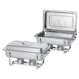 Chafing Dish GN 1/1 Twin Set abnehmbarer Deckel  L 610 mm  H 300 mm Produktbild