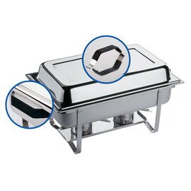 Chafing Dish GN 1/1 THERMO abnehmbarer Deckel 9 ltr  L 610 mm  H 300 mm Produktbild