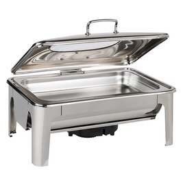 GN 1/1 Chafing Dish GN 1/1 EASY INDUCTION Scharnierdeckel 9 ltr  L 600 mm  H 300 mm Produktbild 1 S